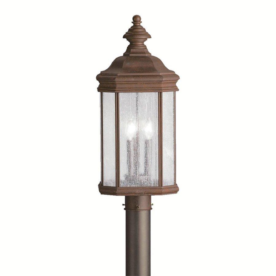 Shop kichler kirkwood 23 5 in h tannery bronze post light for Outdoor living kirkwood