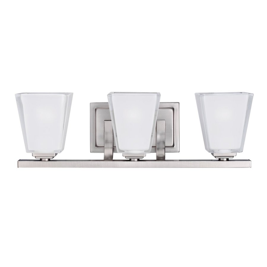 Kichler Urban Ice 3-Light 6.25-in Antique pewter Rectangle Vanity Light