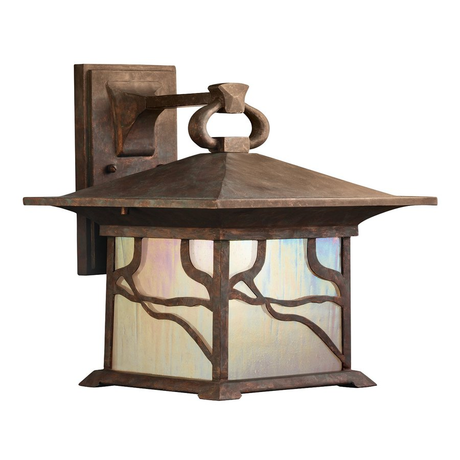 Kichler Morris 13.5-in H Distressed Copper Outdoor Wall Light