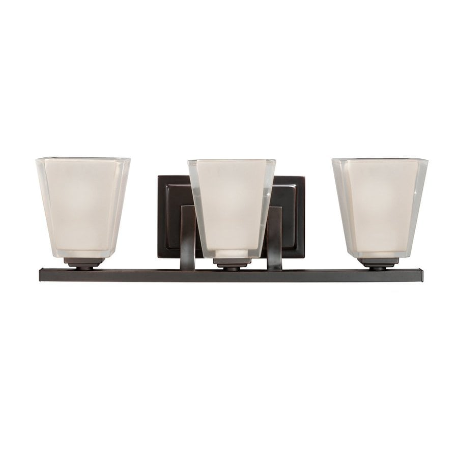 Kichler Urban Ice 3-Light 6.25-in Olde Bronze Rectangle Vanity Light