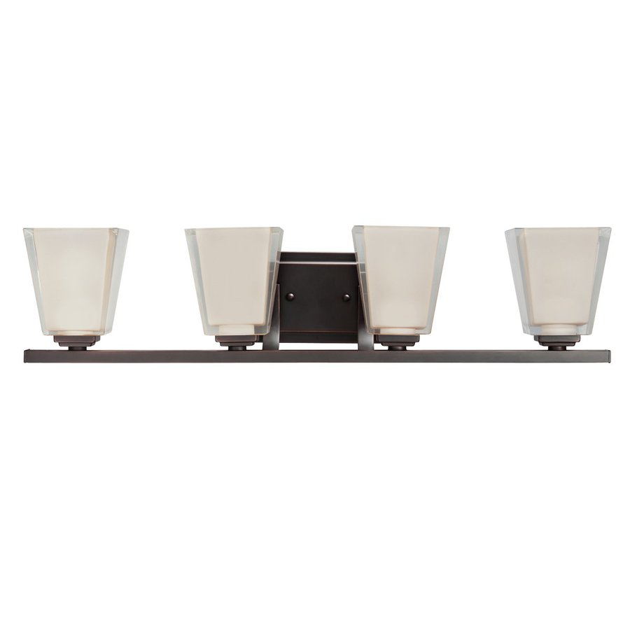 Kichler Lighting Urban Ice 4-Light 6.25-in Olde Bronze Rectangle Vanity Light