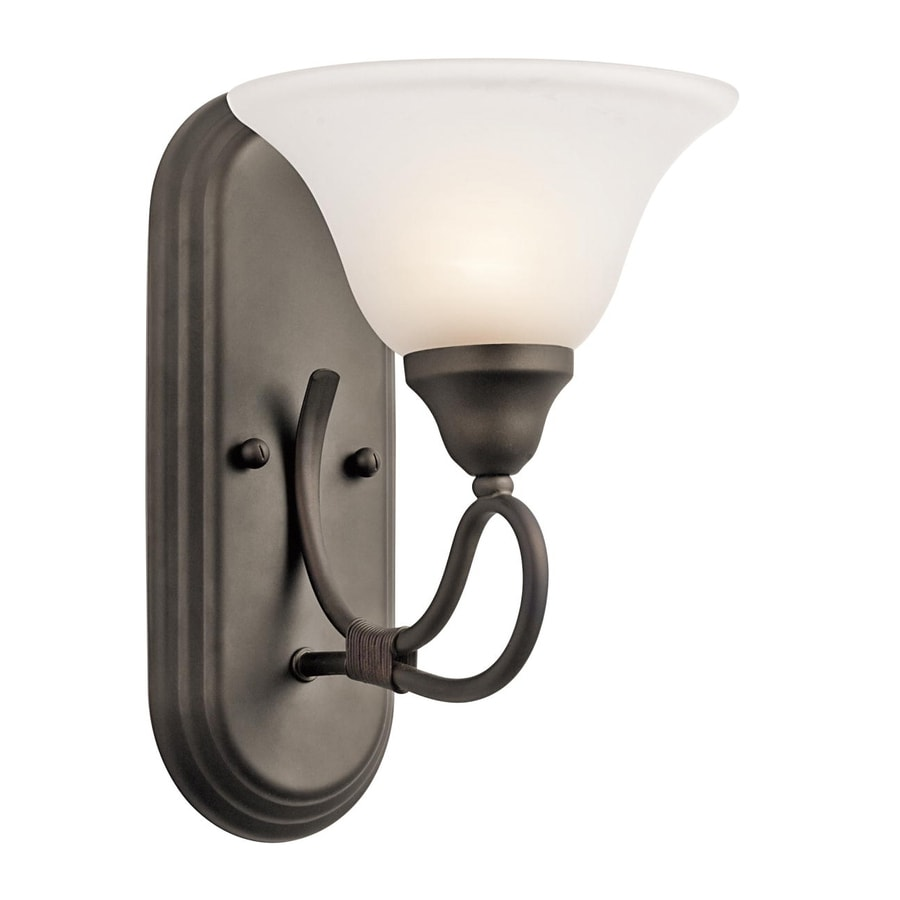 Kichler Stafford 1-Light 12-in Olde Bronze Bell Vanity Light