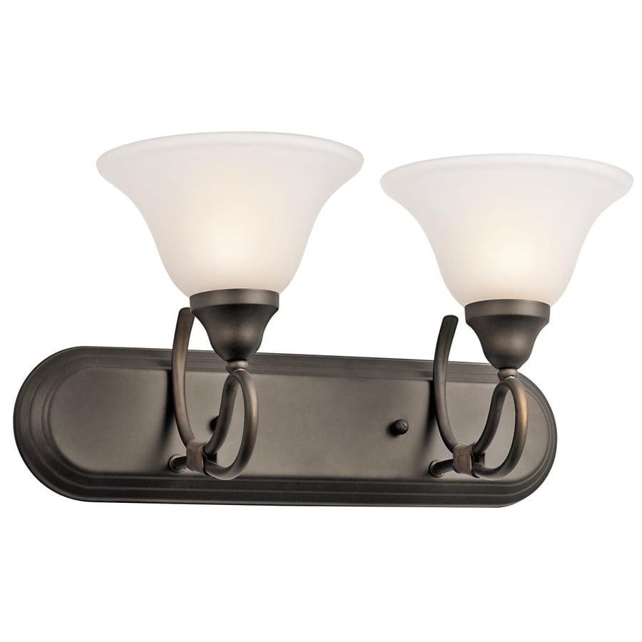 Kichler Lighting Stafford 2-Light Olde Bronze Bell Vanity Light