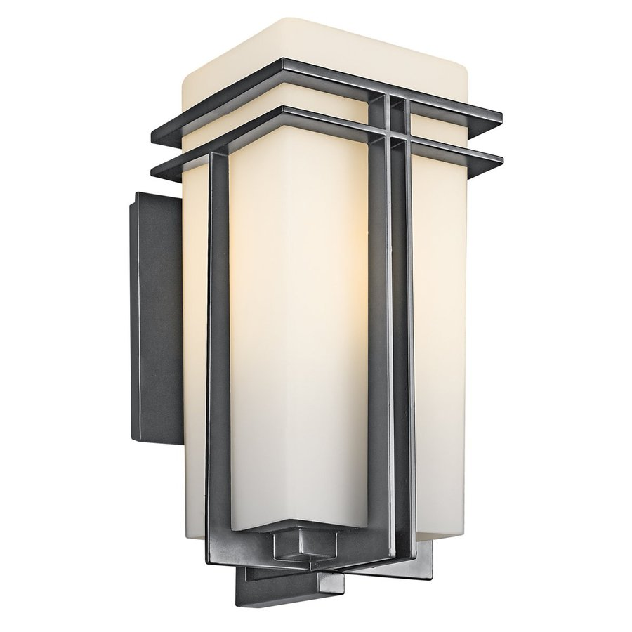 Kichler Tremillo 17.25-in H Black Outdoor Wall Light