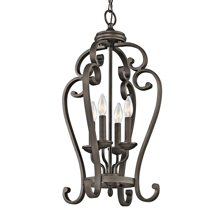 Kichler Lighting Monroe 15-in Olde Bronze Country Cottage Hardwired Single Cage Pendant