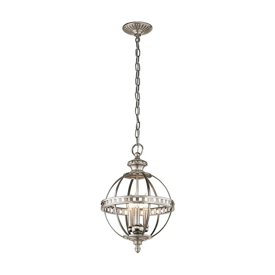 Kichler Halleron 12-in Classic Pewter Vintage Hardwired Single Globe Pendant