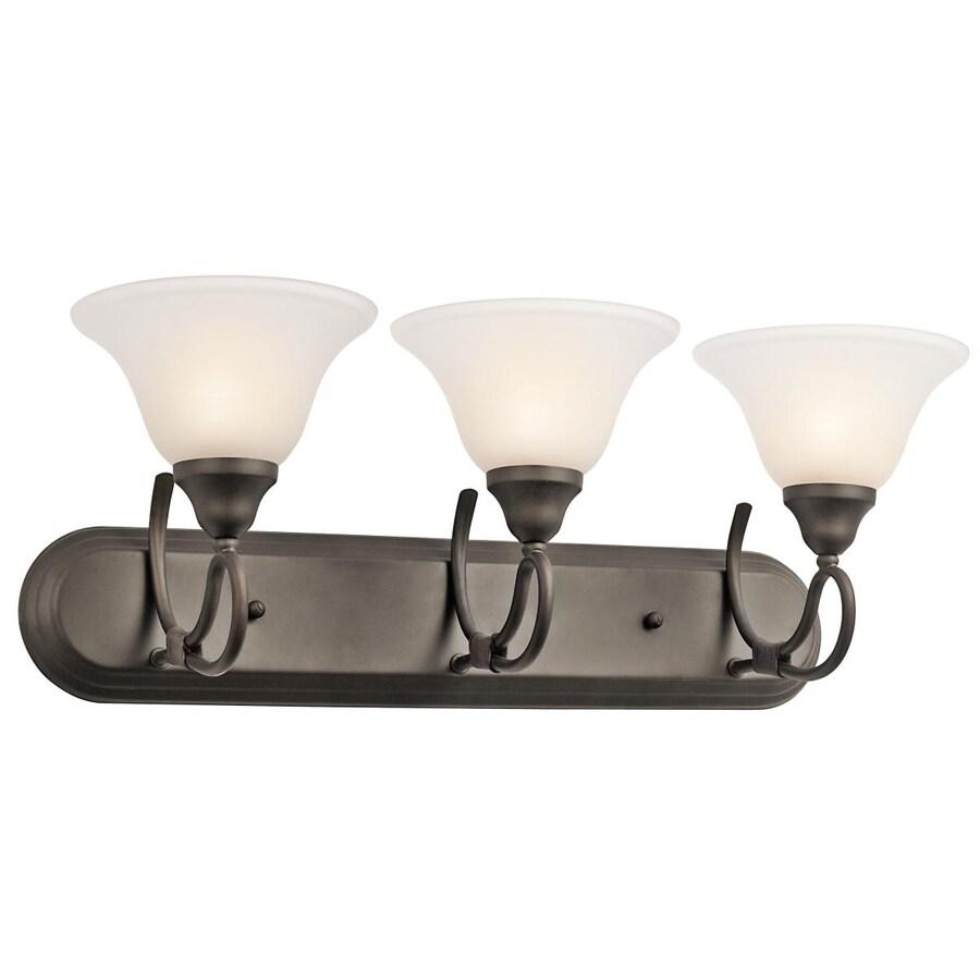 Kichler Stafford 3-Light 9.25-in Olde Bronze Bell Vanity Light