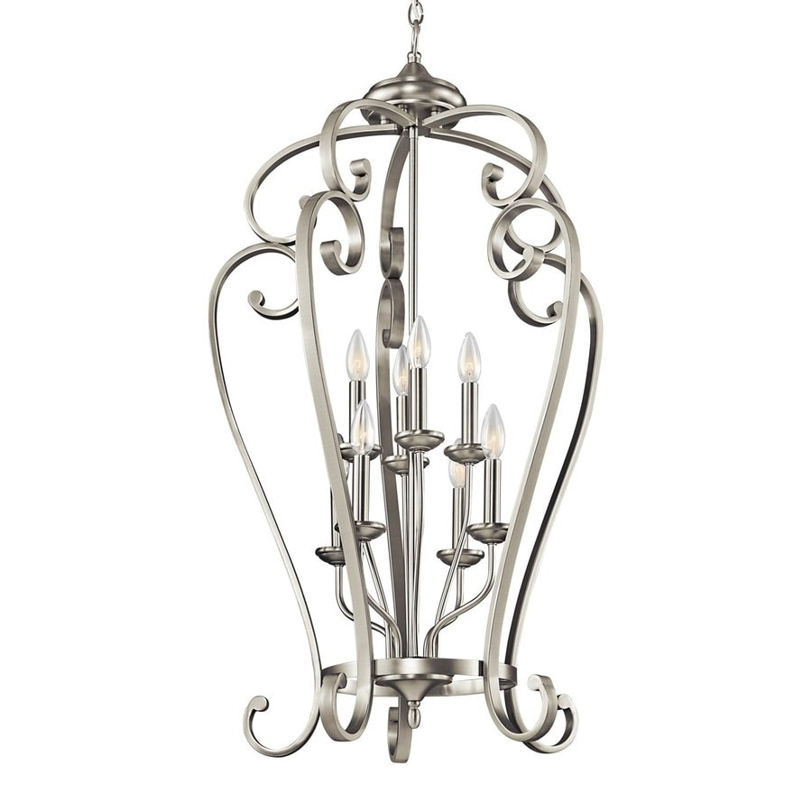 Kichler Lighting Monroe 23-in Brushed Nickel Country Cottage Hardwired Single Cage Pendant