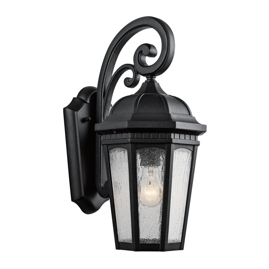 Kichler Lighting Courtyard 17.75-in H Textured Black Outdoor Wall Light
