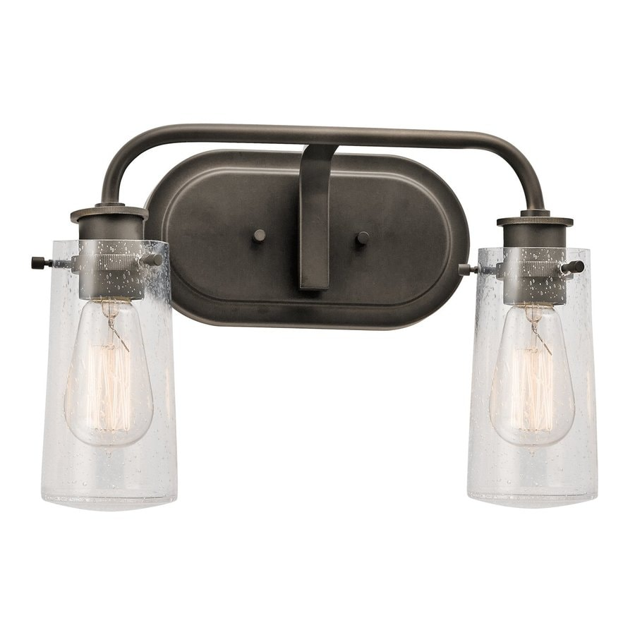 shop kichler braelyn 2 light 14 75 in olde bronze jar 13301