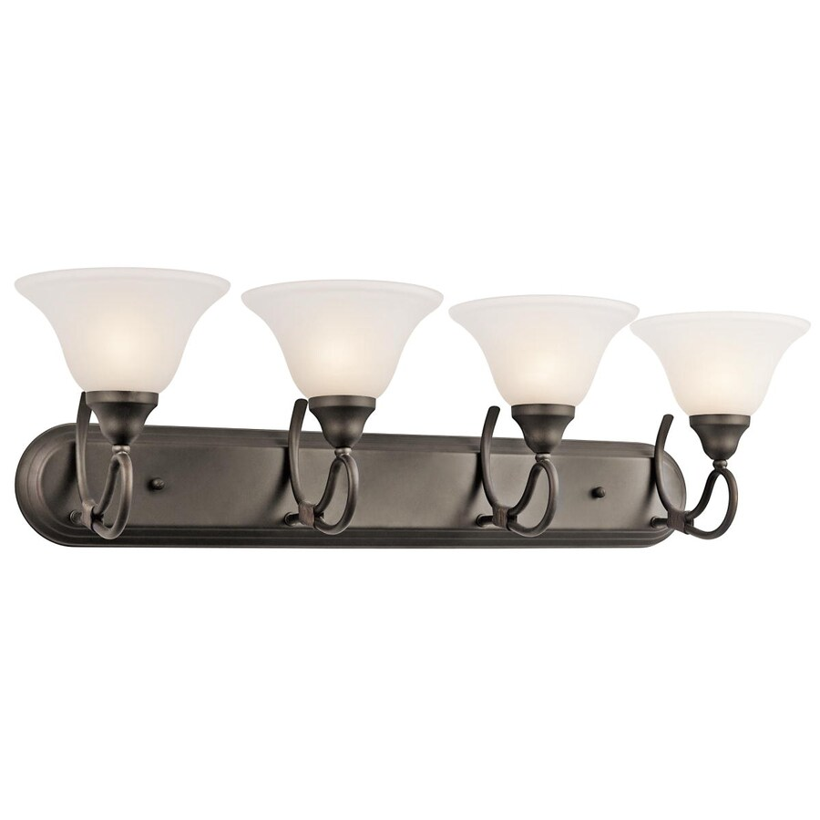 Kichler Stafford 4-Light 9.25-in Olde Bronze Bell Vanity Light