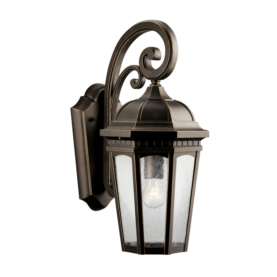 Shop Kichler Lighting Courtyard 17.75-in H Rubbed Bronze