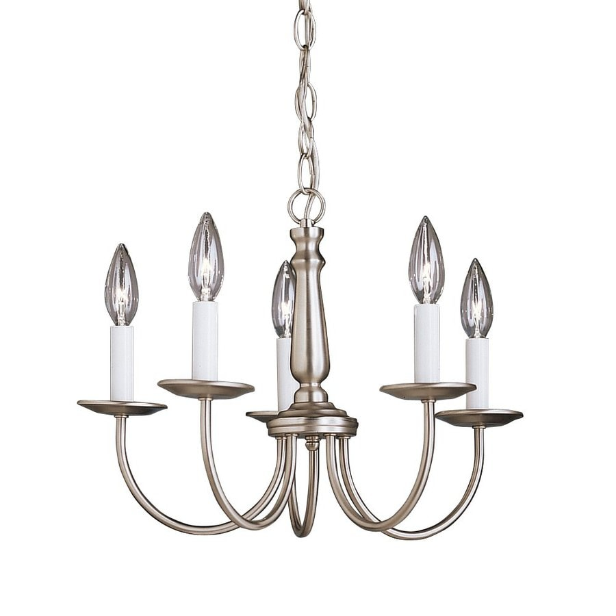 Kichler Lighting Salem 17-in 5-Light Brushed Nickel Vintage Candle Chandelier