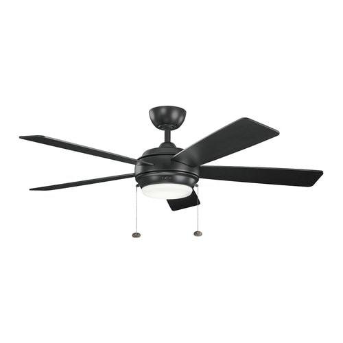 Kichler Starkk 52 In Satin Black Indoor Ceiling Fan With