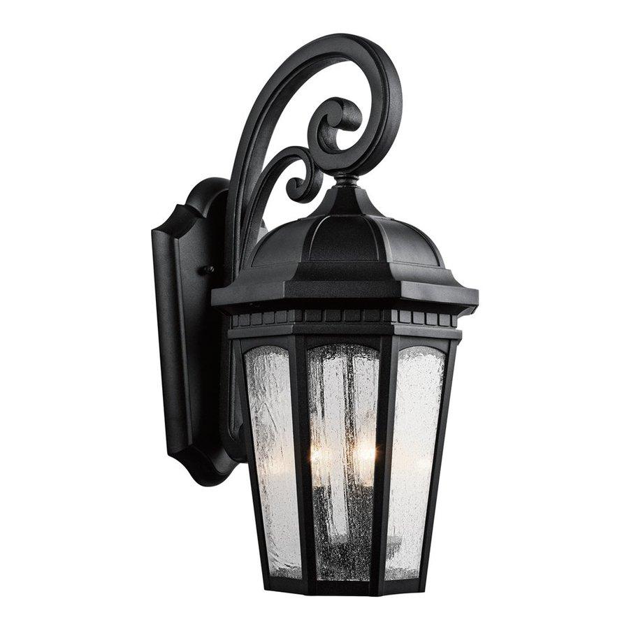 Kichler Lighting Courtyard 22.25-in H Textured Black Outdoor Wall Light