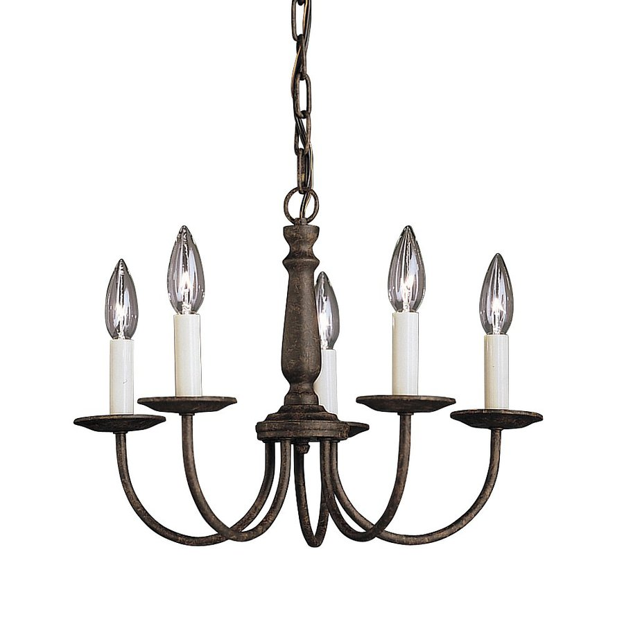 Kichler Lighting Salem 17-in 5-Light Tannery Bronze Vintage Candle Chandelier