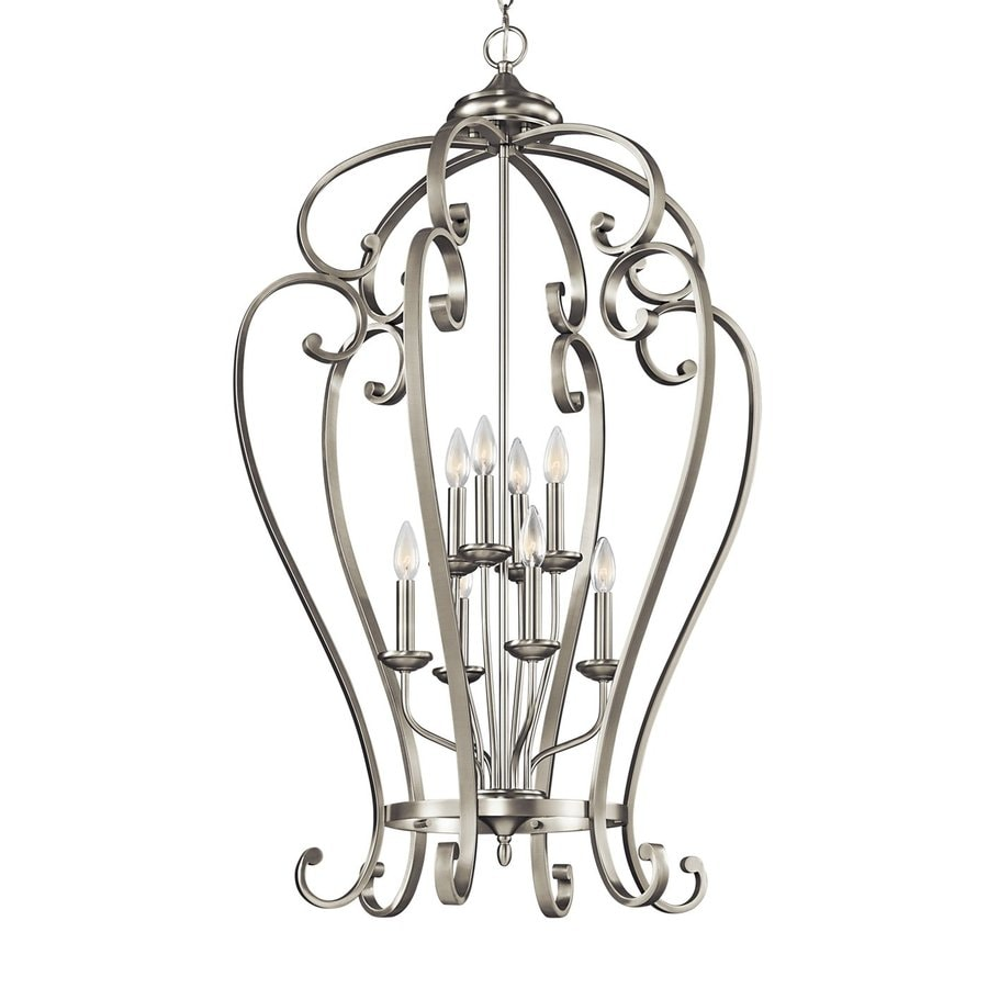 Kichler Monroe 27-in Brushed Nickel Country Cottage Hardwired Single Cage Pendant