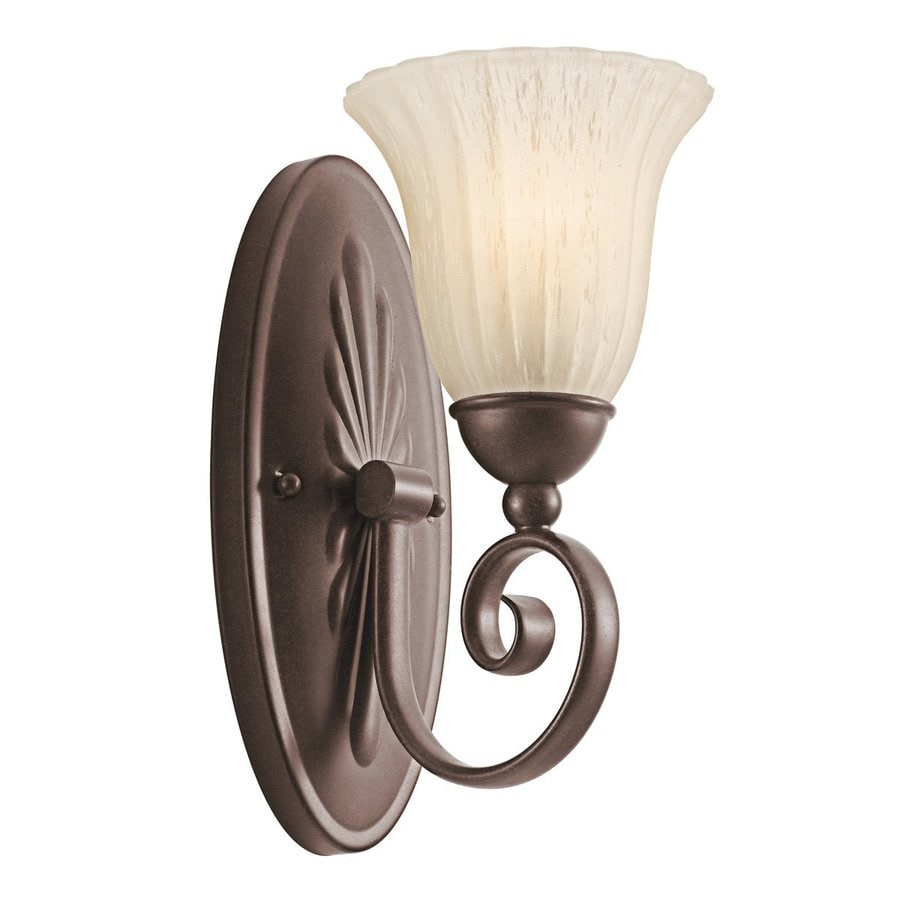 Kichler Willowmore 1-Light 12.25-in Tannery bronze Bell Vanity Light