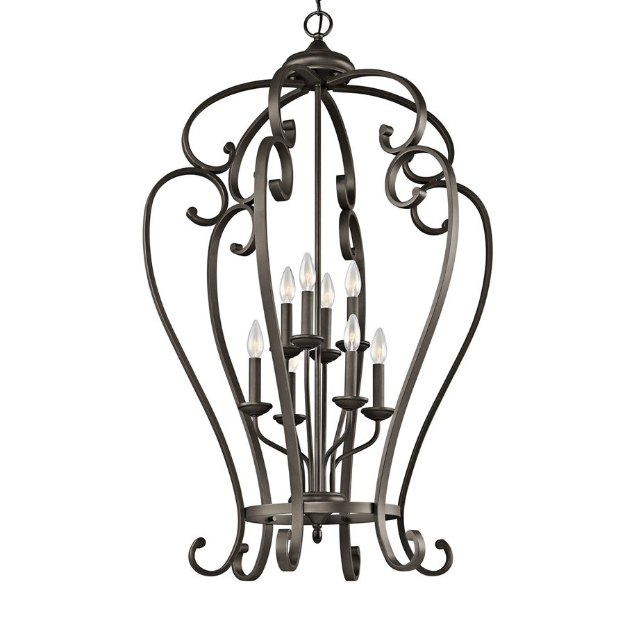 Kichler Lighting Monroe 27-in Olde Bronze Country Cottage Hardwired Single Cage Pendant