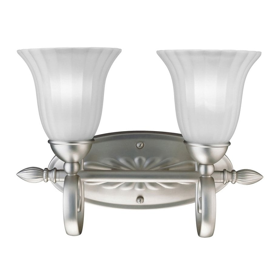 Kichler Lighting Willowmore 2-Light 11-in Brushed Nickel Bell Vanity Light