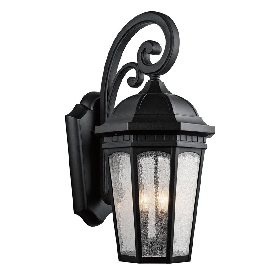 Kichler Courtyard 26.5-in H Textured Black Outdoor Wall Light