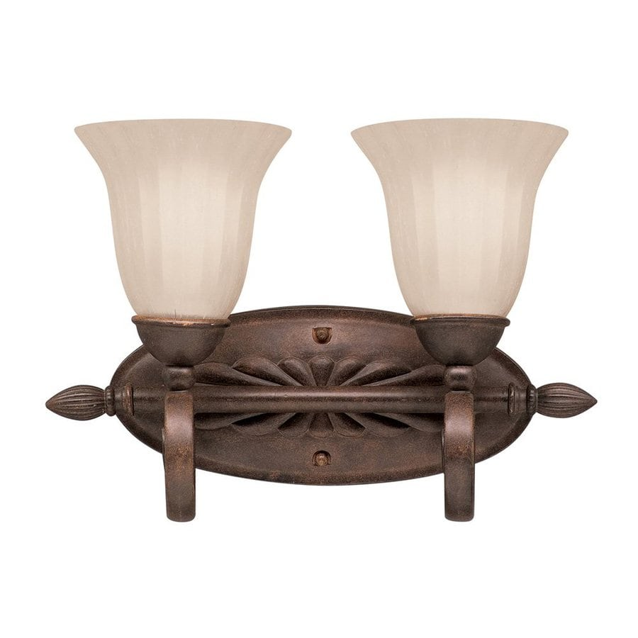 Kichler Lighting Willowmore 2-Light Tannery Bronze Bell Vanity Light