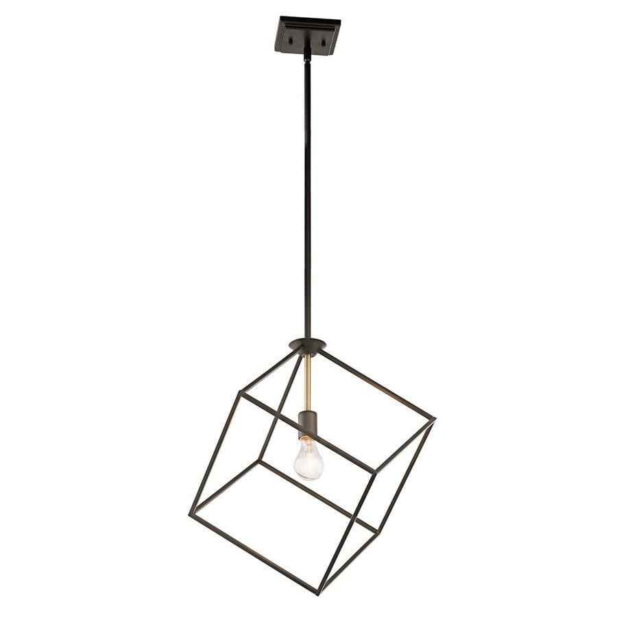 Kichler Lighting Cartone 17-in Olde Bronze Industrial Hardwired Single Square Pendant