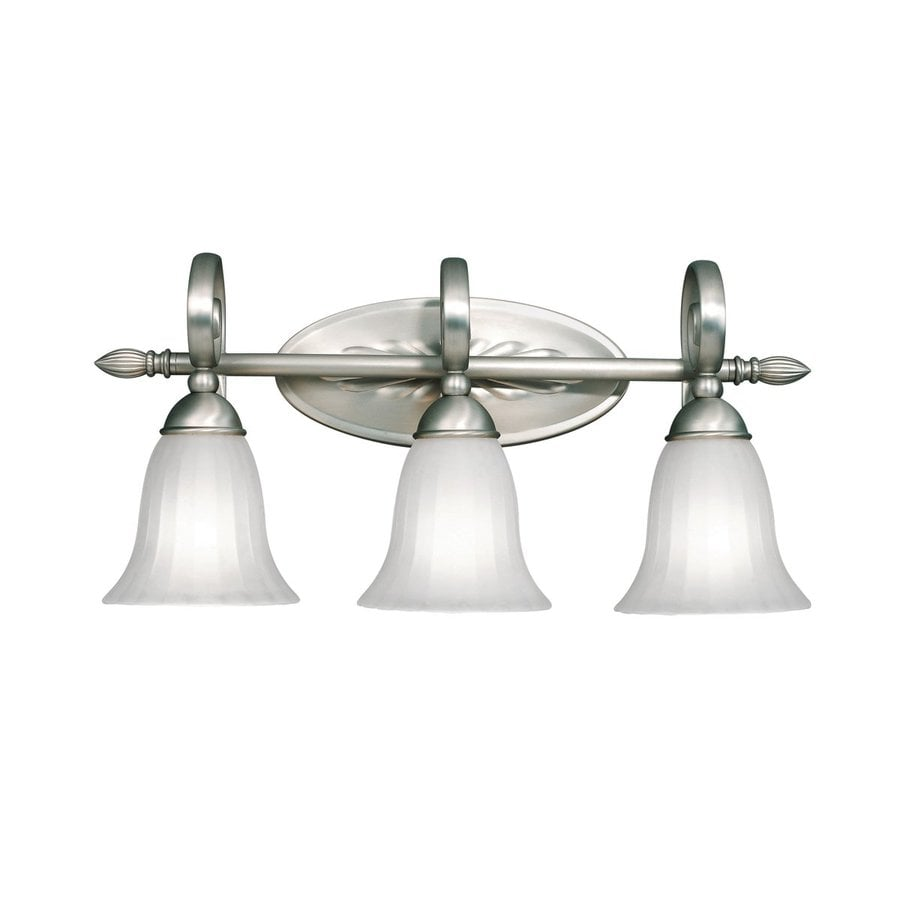 Kichler Vanity Lights Lowes : Shop Kichler Willowmore 3-Light 11-in Brushed Nickel Bell Vanity Light at Lowes.com