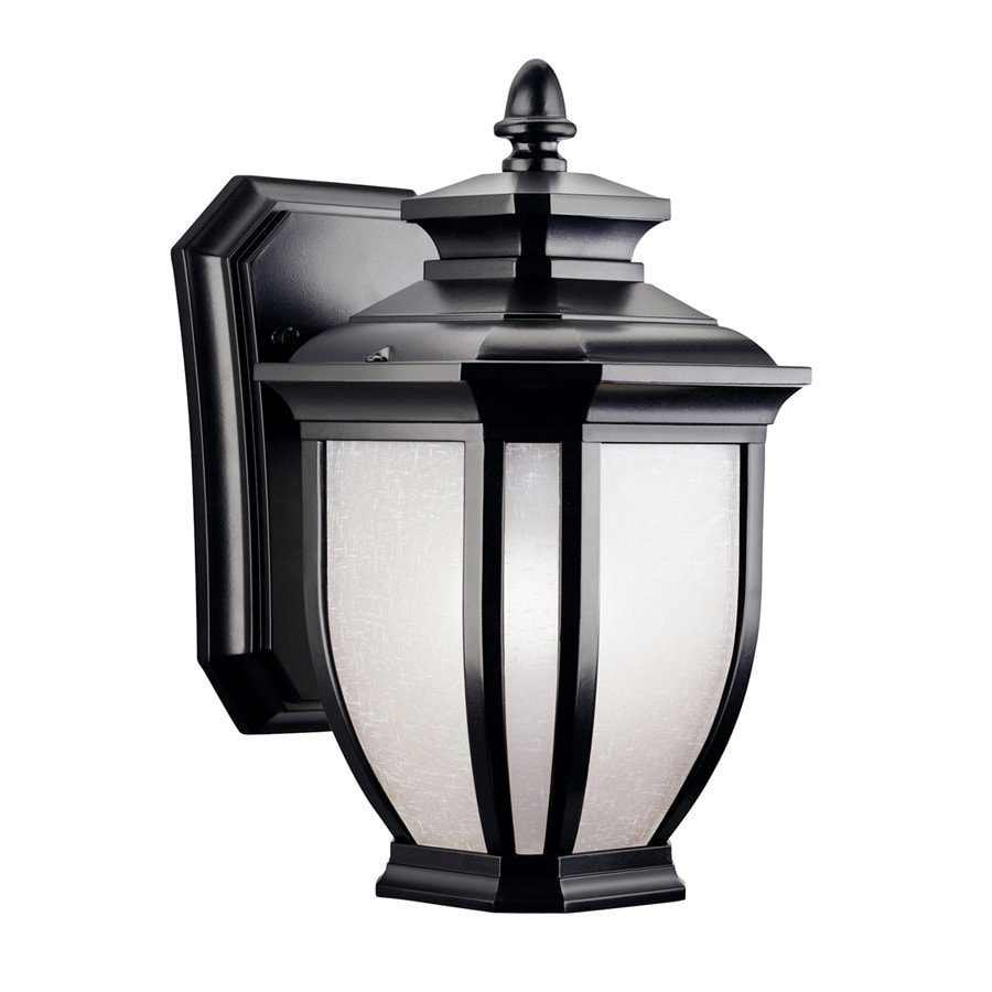 Kichler Lighting Salisbury 10.5-in H Black Outdoor Wall Light