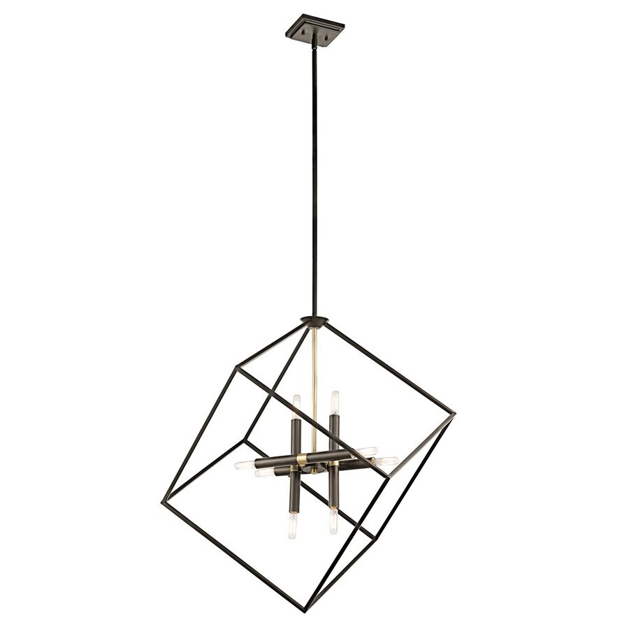 Kichler Lighting Cartone 25.5-in Olde Bronze Industrial Hardwired Single Square Pendant