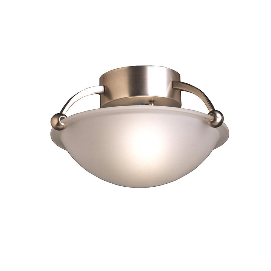 Kichler 12-in W Brushed Nickel Etched Glass Semi-Flush Mount Light