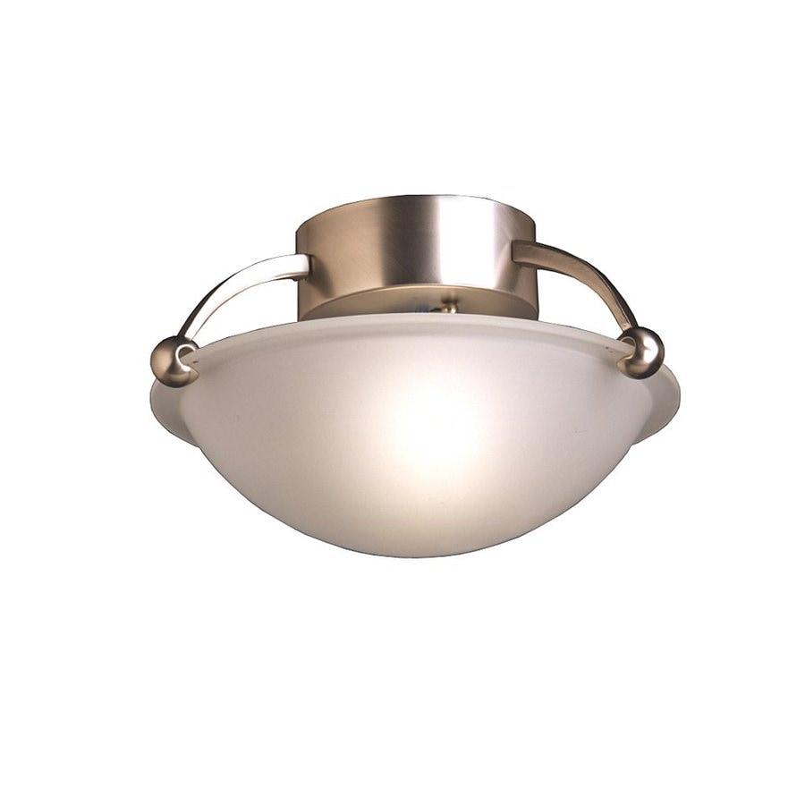 Kichler Lighting 12-in W Brushed Nickel Etched Glass Semi-Flush Mount Light