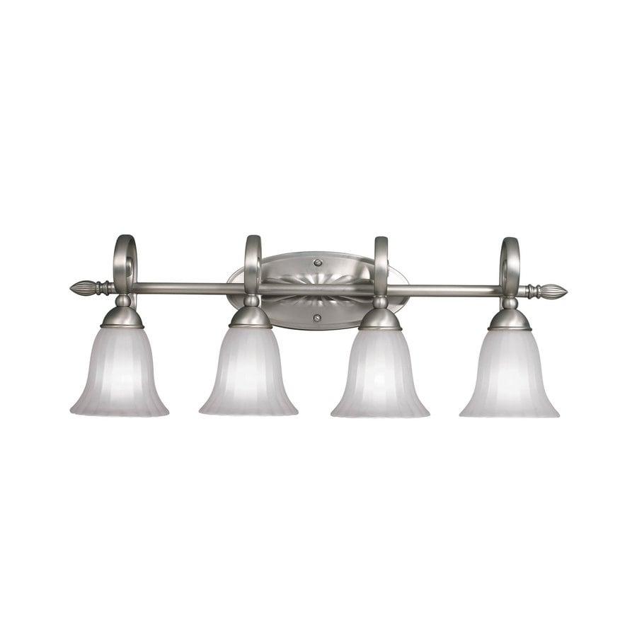 Kichler Willowmore 4-Light 11-in Brushed nickel Bell Vanity Light
