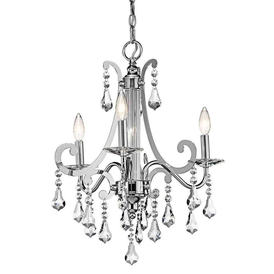 Kichler Lighting Leanora 21-in 3-Light Chrome Crystal Candle Chandelier