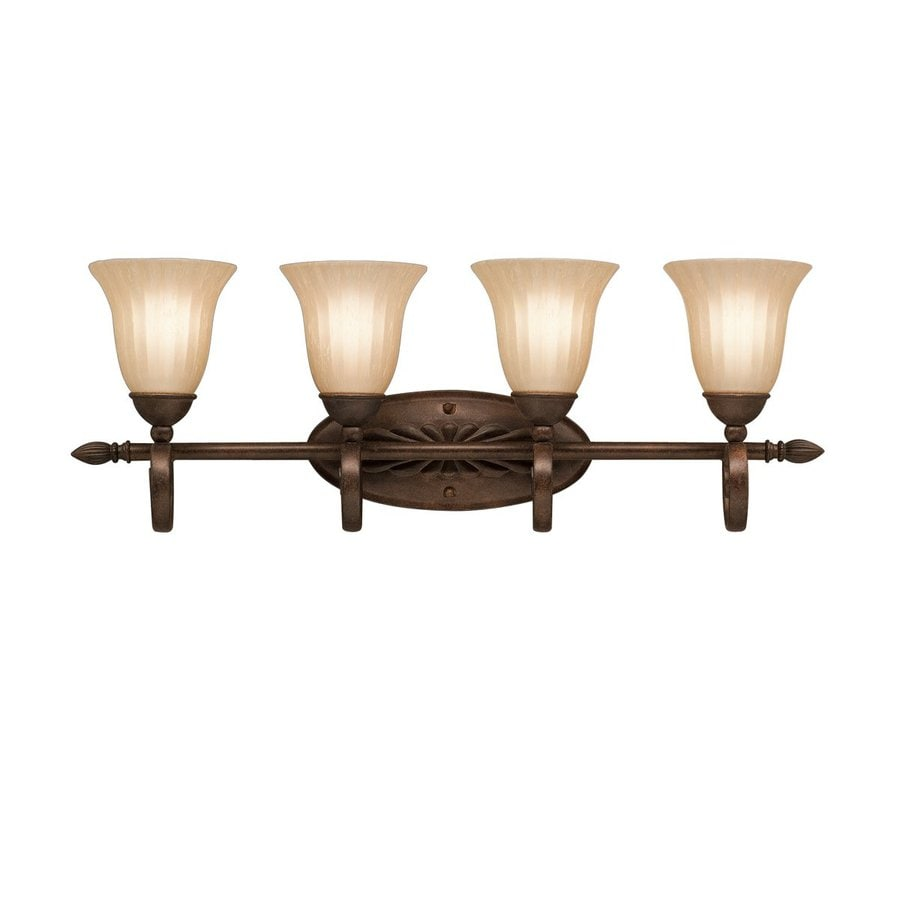 Kichler Lighting Willowmore 4-Light 11-in Tannery Bronze Bell Vanity Light