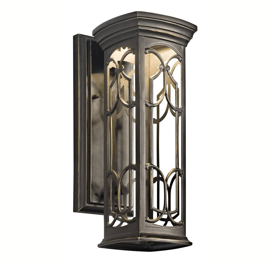 Dark Sky Wall Lights : Shop Kichler Franceasi 14.5-in H Olde Bronze Dark Sky LED Outdoor Wall Light at Lowes.com
