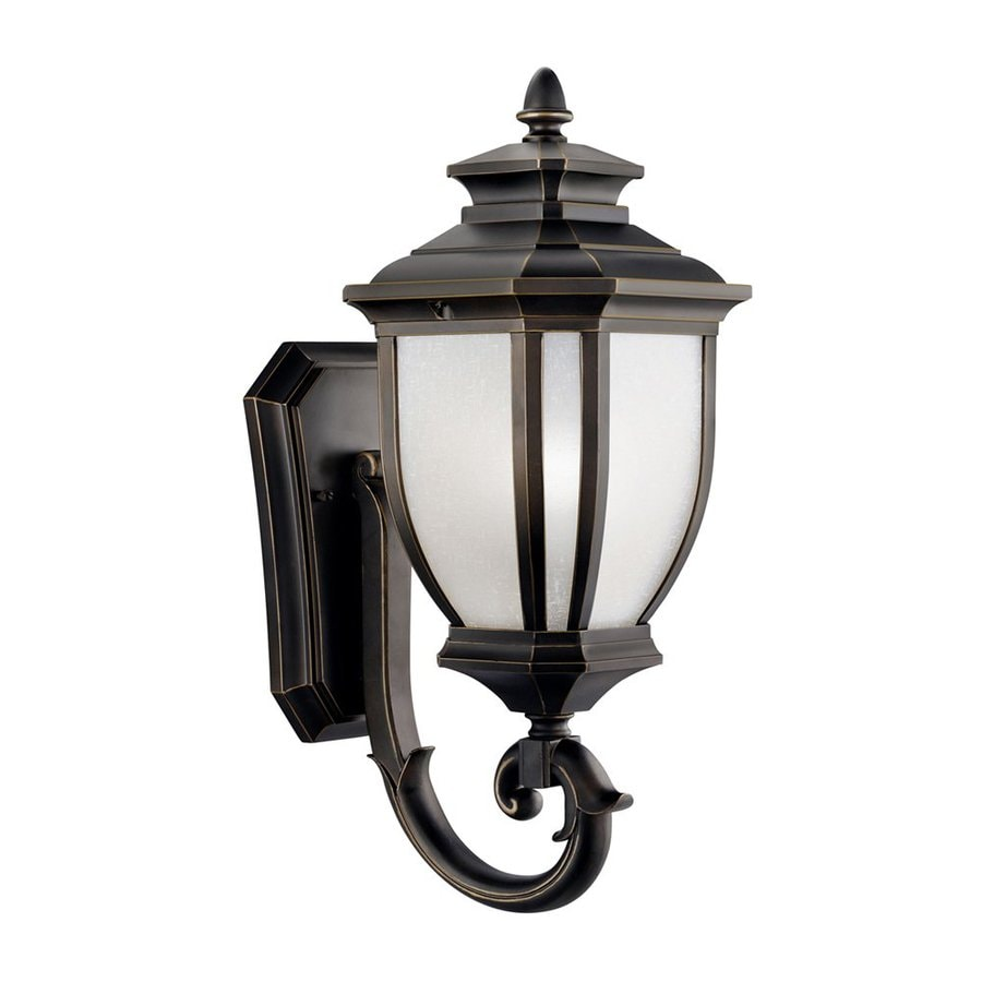 Kichler Salisbury 19.25-in H Rubbed Bronze Outdoor Wall Light