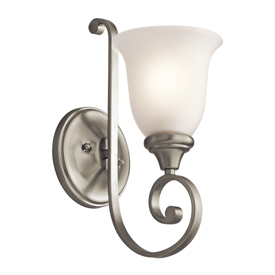 Kichler Monroe 6-in W 1-Light Brushed Nickel Arm Wall Sconce