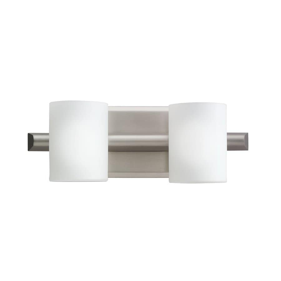 Kichler Lighting Tubes 2-Light Brushed Nickel Cylinder Vanity Light