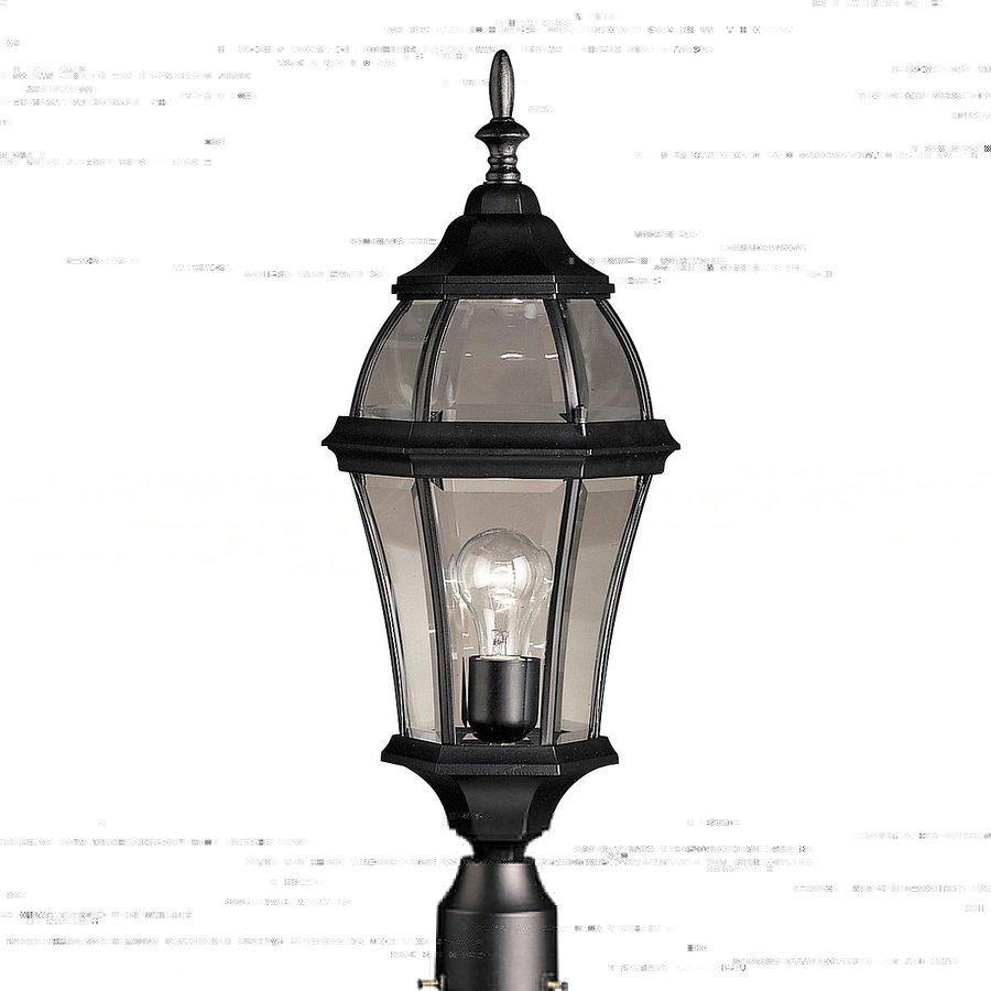 Kichler Townhouse 24.25-in H Black Post Light