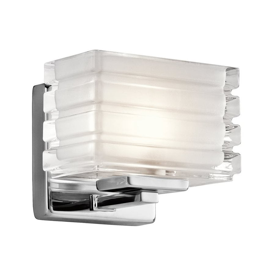 Kichler Bazely 1-Light 5-in Chrome Rectangle Vanity Light