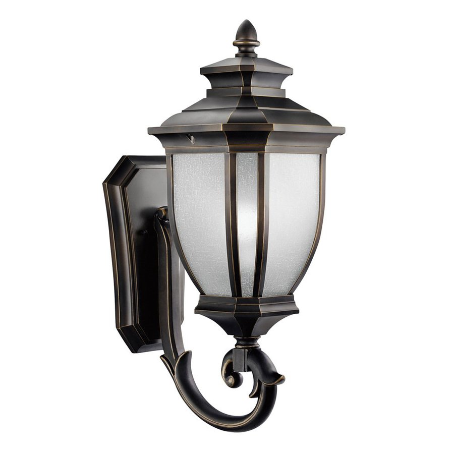 Shop Kichler Salisbury H Rubbed Bronze Outdoor Wall Light At