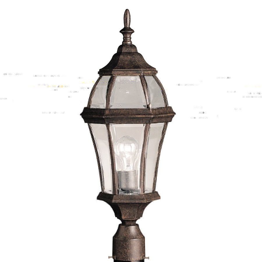 Kichler Lighting Townhouse 24.25-in H Tannery Bronze Post Light