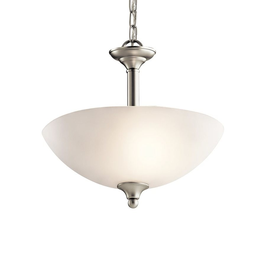 shop kichler jolie 15 in brushed nickel country cottage