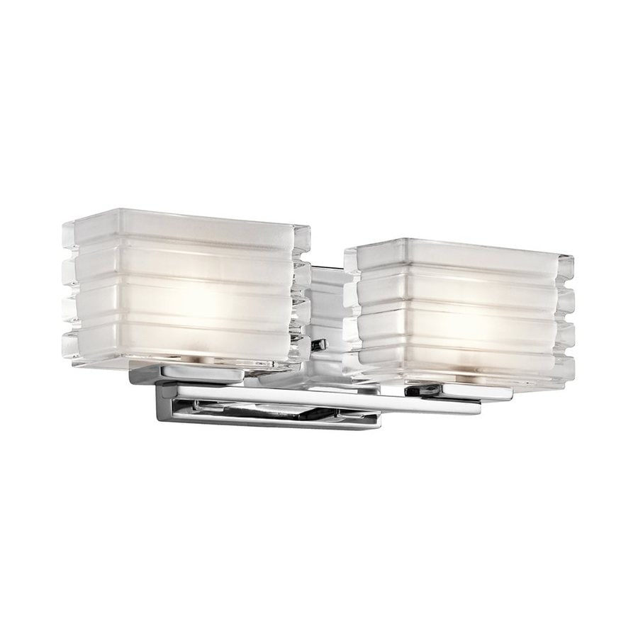 Kichler Bazely 2-Light 5-in Chrome Rectangle Vanity Light