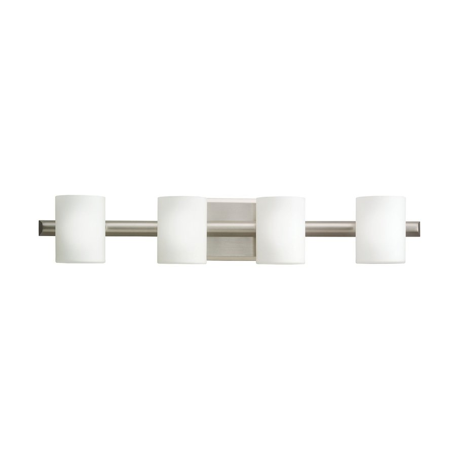 Kichler Tubes 4-Light 4.75-in Brushed Nickel Cylinder Vanity Light