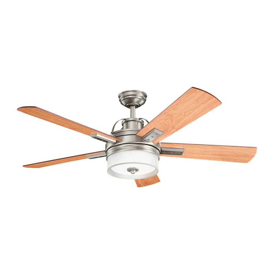 Ceiling Fans With Light: Shop Kichler Lighting Lacey 52-in Antique Pewter Downrod