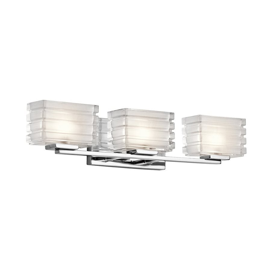 Kichler Bazely 3-Light 5-in Chrome Rectangle Vanity Light