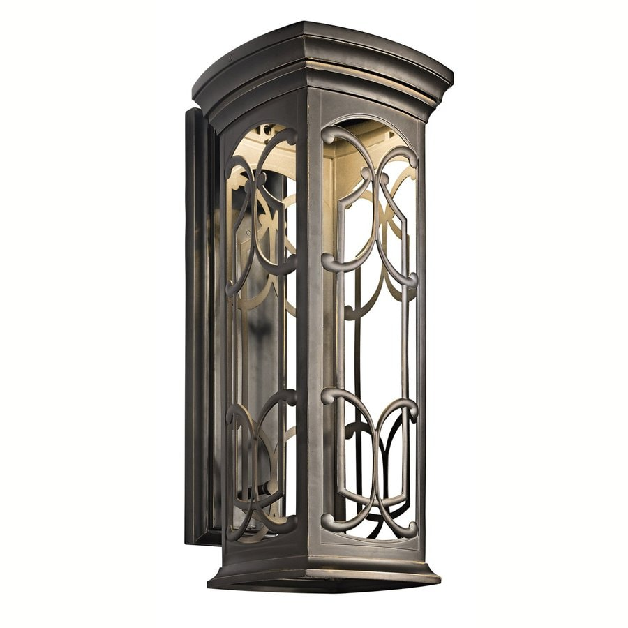 Kichler Franceasi 25-in H Olde Bronze Dark Sky LED Outdoor Wall Light