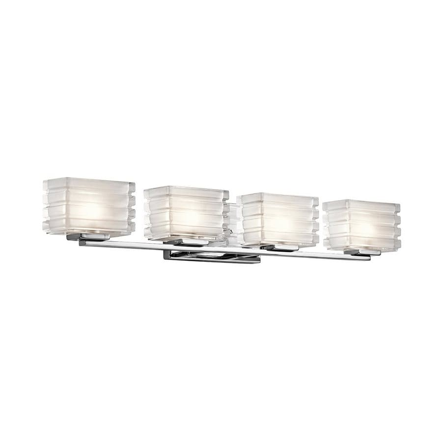 Kichler Bazely 4-Light 5-in Chrome Rectangle Vanity Light